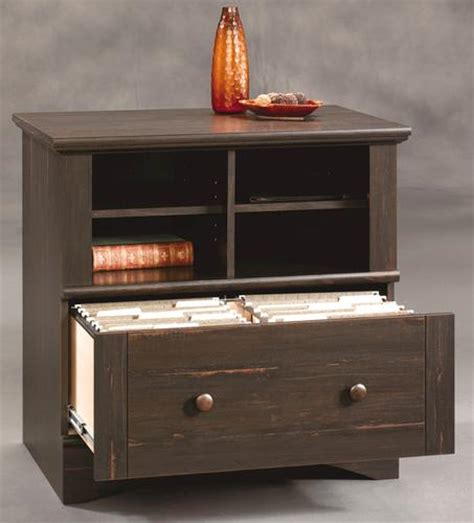menards file cabinets sauder harbor view antiqued paint lateral file cabinet at