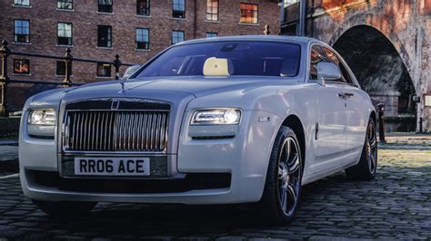 white rolls royce ghost ii wedding car hire manchester