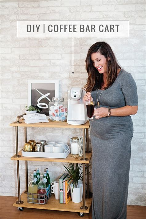Diy coffee bar tailored from scratch. The Perfect Coffee Station with a DIY Coffee Bar Cart   Fresh Mommy Blog