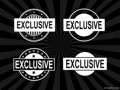 4 Exclusive Stamp Vector (PNG Transparent, SVG) | OnlyGFX.com