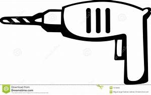 Electric Hand Drill Tool And Drill Bit Vector Stock Photo