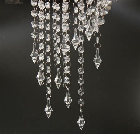 strands for chandeliers 33ft clear acrylic chain garland chandelier