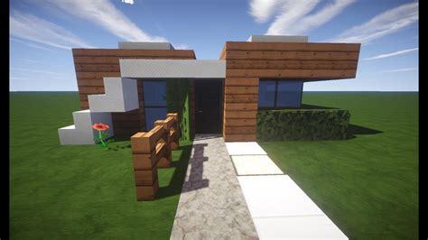 Minecraft Modernes Haus Klein Braunweiß Bauen Tutorial