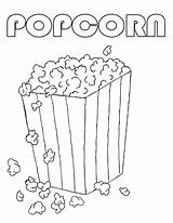 Popcorn Coloring Printable Machine Drawing Sweet Template Clipart Popping National Getdrawings Edit Coloringhome Colored Sketch Popular Daycoloring Snack sketch template