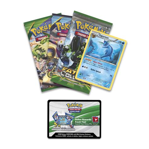 Have fun learning and mastering the pokémon trading card game online! Pokémon Trading Card Game: Triple Effect Tin with Vaporeon