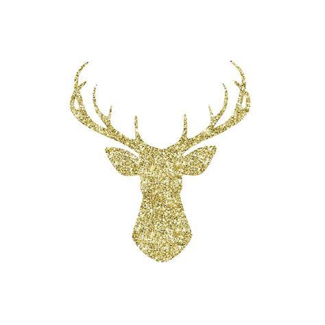 gold glitter stag head digital art  amanda lakey