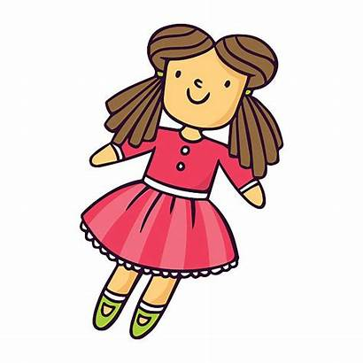 Doll Clipart Puppe Helle Vektor Cliparts American