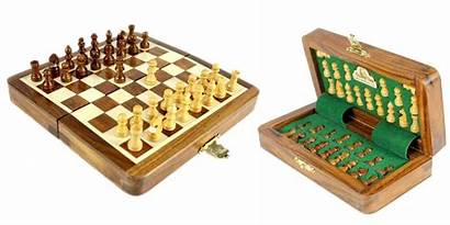 Chess Folding Board Travel Wooden Magnetic