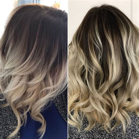 rooted balayage blonde ash blonde hair dark roots beach