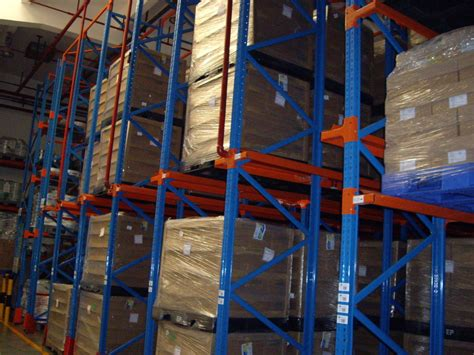 Drive In / Through Industrial Pallet Racks , Cold Room