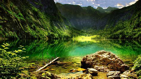 koenigssee mountain lake   bavarian alps lake