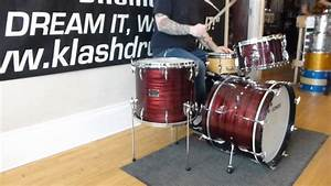 Sonor Vintage Red Slate Tear Drop Drum Set 1960's Review