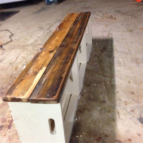 milk crate bench diy furniture diy home decor wood crates