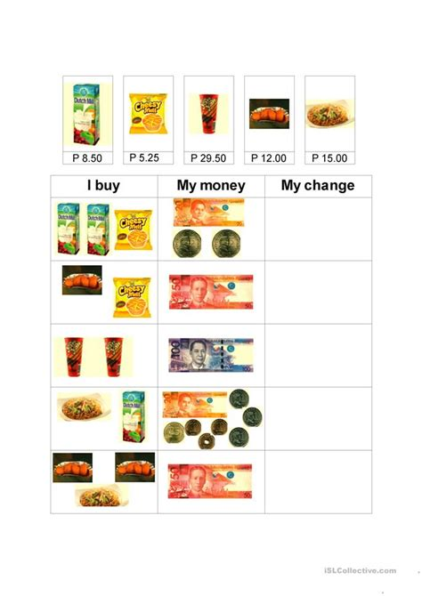 money worksheets for kindergarten philippines and also best forex buy and sell indicators