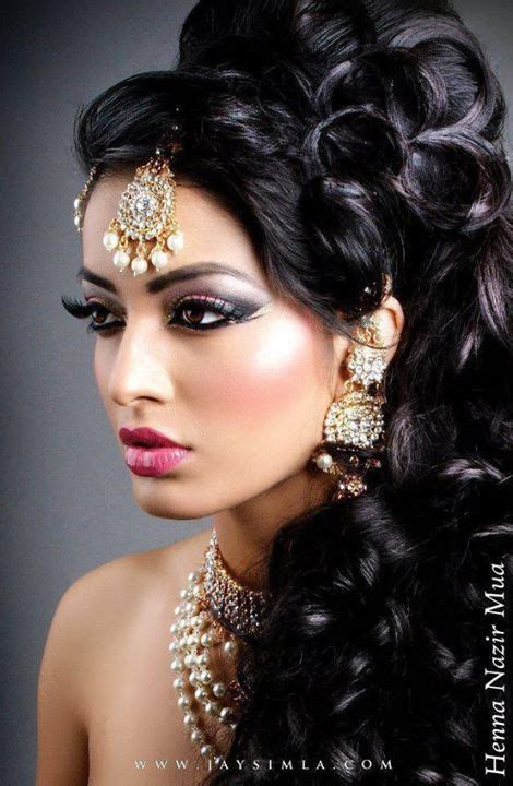 hair style for wavy hair best 25 indian bridal makeup ideas on indian 3795