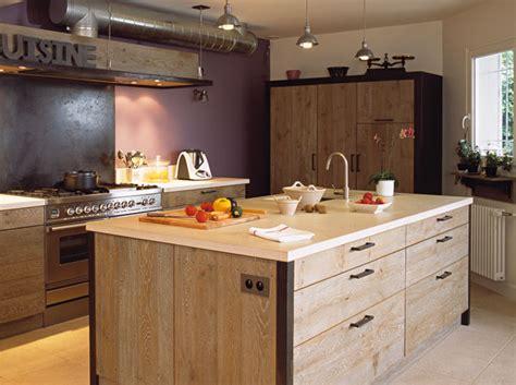 cuisine type atelier une séparation façon atelier maison travaux