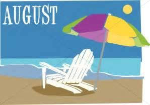August Beach Clip Art