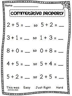 grade math unit 7 commutative property