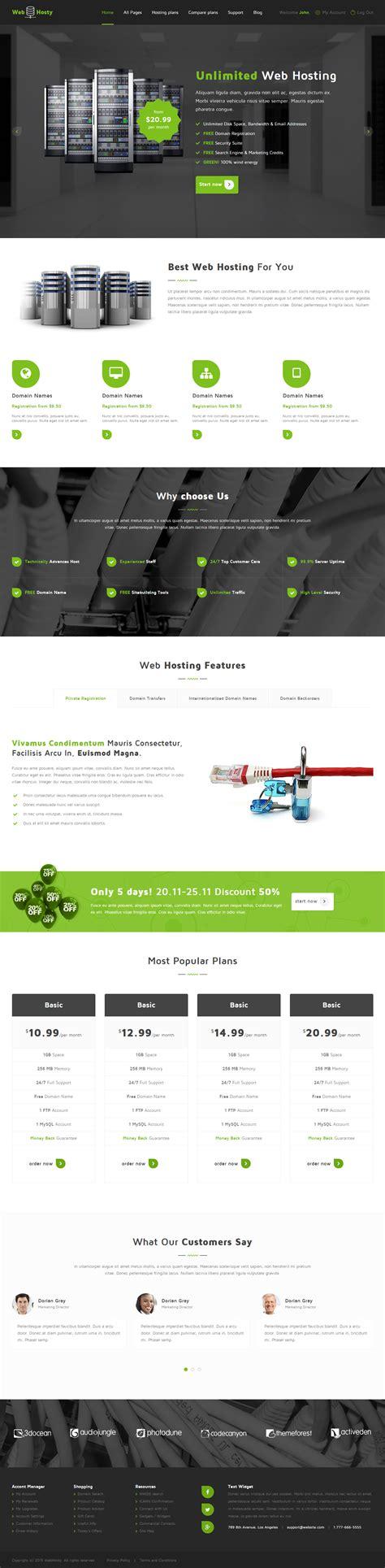 webhosty template webhosty premium responsive hosting html5 template