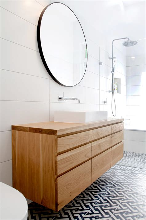 solid timber vanities bringing warmth   bathroom