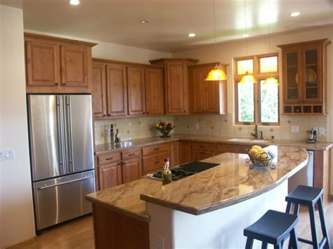 Open Plan Kitchen With Island  Traditional  Kitchen
