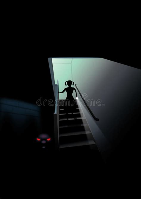 scary basement stock illustration illustration  lurking