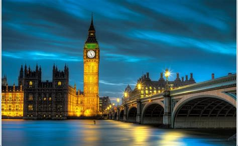 big ben tower bridge london city led canvas ref