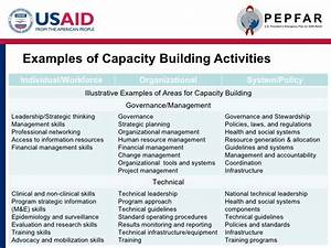 capacity building u nder pepfar ii final cobranded With capacity building plan template
