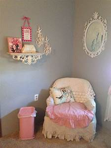 Shabby, Chic, Girls, Room, Love, The, Antique, Trash, Can, Gray, Walls