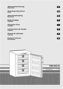 Liebherr Gp 1466 Freezer   Refrigerator Download Manual For