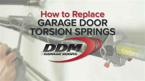 replace garage door torsion springs youtube