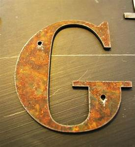 rustic metal letters 4 inch tall on etsy 700 rusty With tall metal letters
