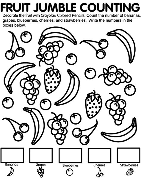 fruit   spirit coloring pages coloring home