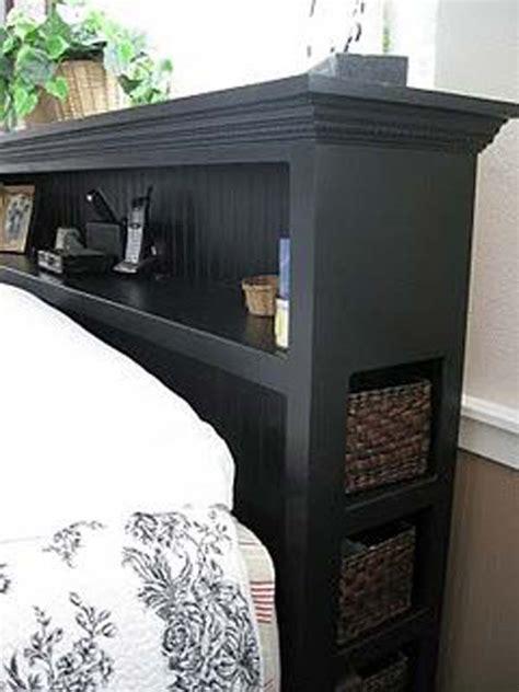 headboard storage ideas   bedroom amazing diy