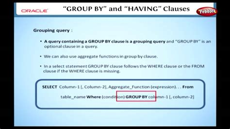 sql having clause oracle