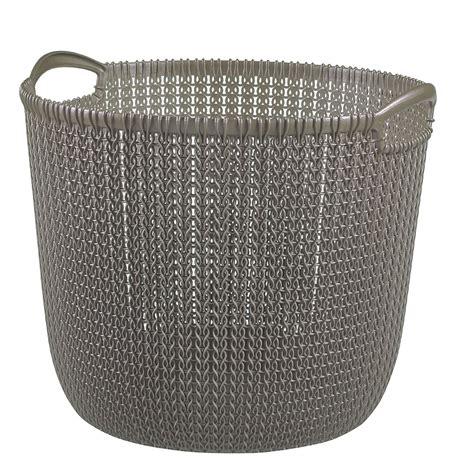 panier 224 linge harvest brown knit curver 30 litres blokker