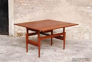 Table Basse Transformable En Table Haute : table haute basse transformable danoise teck gentlemen designers ~ Teatrodelosmanantiales.com Idées de Décoration