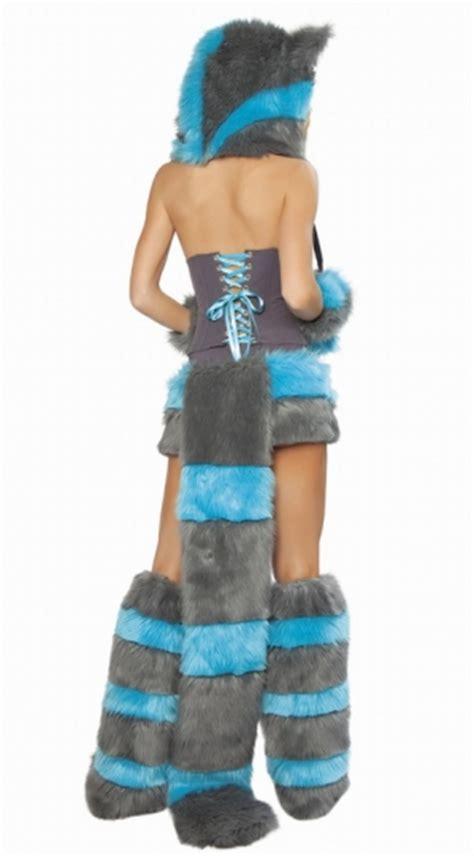womens hooded cheshire cat costume grey