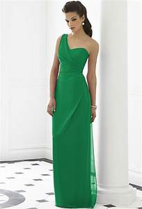 green bridesmaid dresses dressed up girl With long green dress for wedding