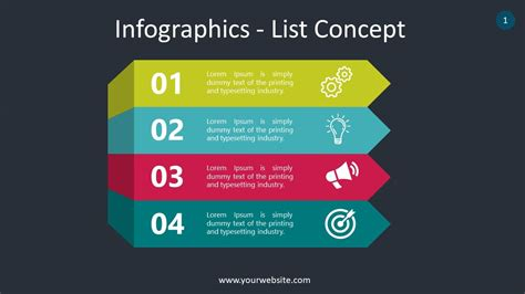 Free List Infographics Slides Powerpoint Template ...