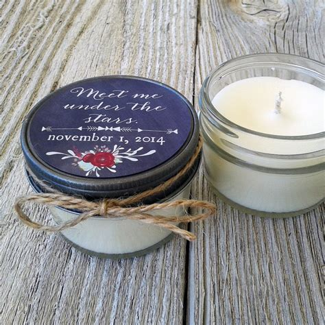 Set Of 12 4 Oz Candle Wedding Favor Soy Personalized