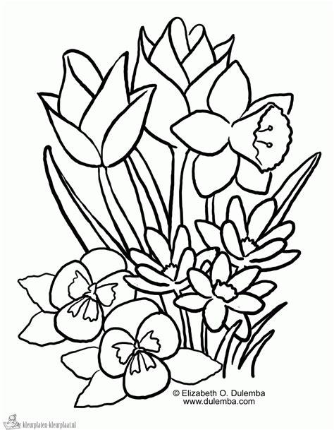 Kleurplaten Voorjaar Peuters.Kleurplaat Gieter Google Zoeken Lentebloemen T