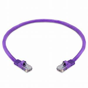 Rj45 Cat5e 350 Mhz Ethernet Network Cable  U2013 1 5feet Purple