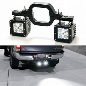 40w Cree Led Pods W   Backup Reverse Tow Hitch Brackets For