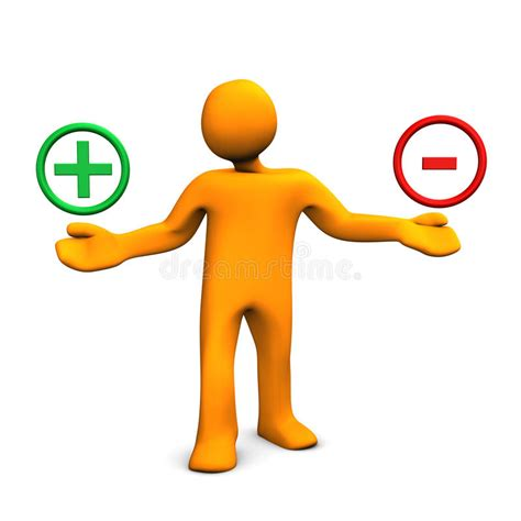 Positive And Negative Man Stock Illustration Illustration Of Balances 28798373