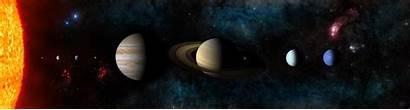 Sci Fi Monitor Solar System Multi Desktop