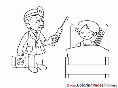 Hospital Colouring Printable Ward Coloring Pages Sheet