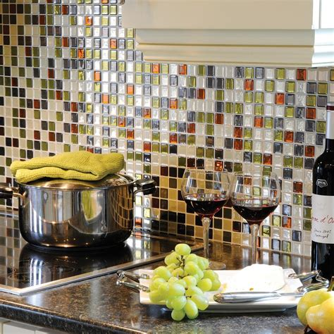 decorative kitchen wall tiles smart tiles idaho 9 85 in w x 9 85 in h decorative 6503