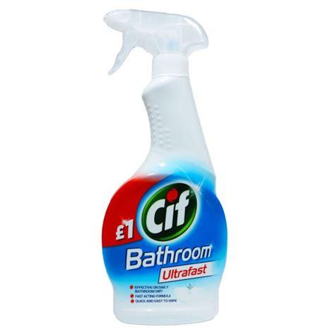 Cif Ultrafast Bathroom Spray 6 X 450ml Grocereezy