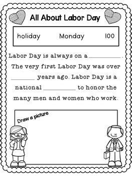 labor day activities  prep worksheets  grades